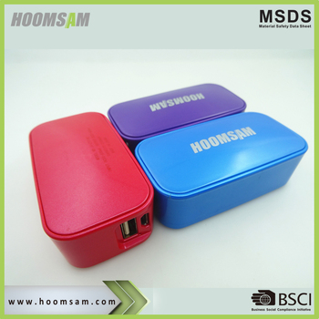 BSCI factory universal gift power bank 2600 mAh portable promotional powerbank hoomsam