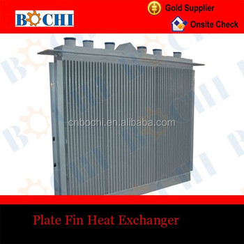 Central Heating System Crossflow Plate Fin Heat Exchanger - Buy ...