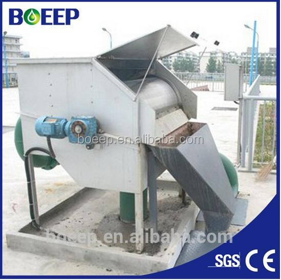 Rotary drum filter sewage treatment plant great quality