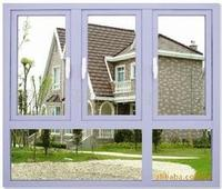 Aluminum Sliding Window Three Panels With Two Fixed Glass