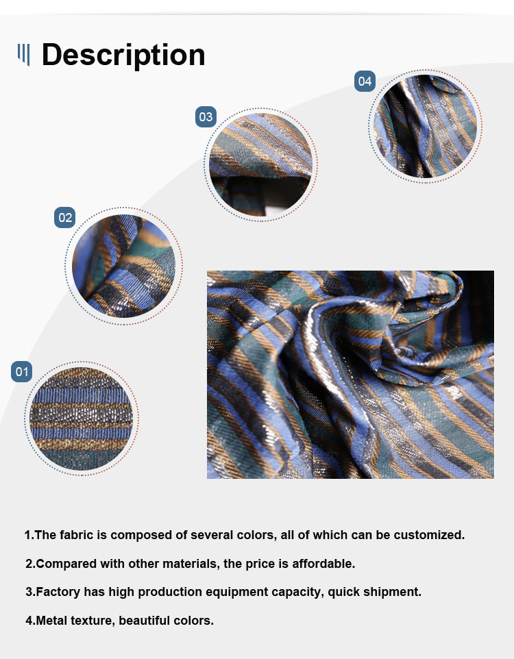 China wholesale custom elastic polyester jacquard suit poly spun line fabric