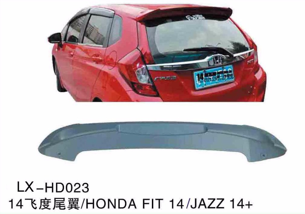 Factory wholesale rear spoiler for honda jazz with brake light LX-HD023