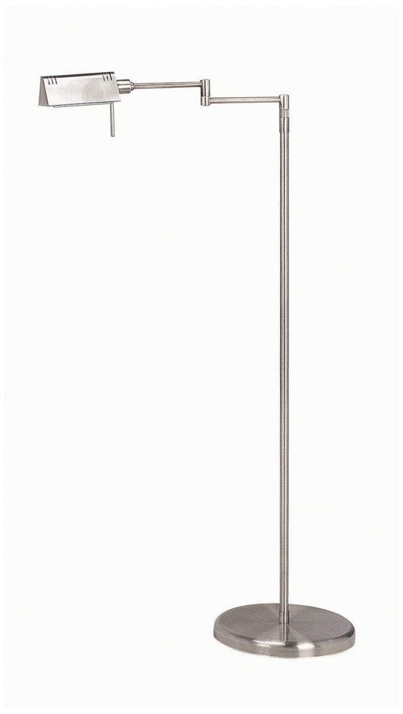 Lite Source LS-960SS Pharma Collection Floor Lamp with Satin Steel Metal Shade, Satin Steel