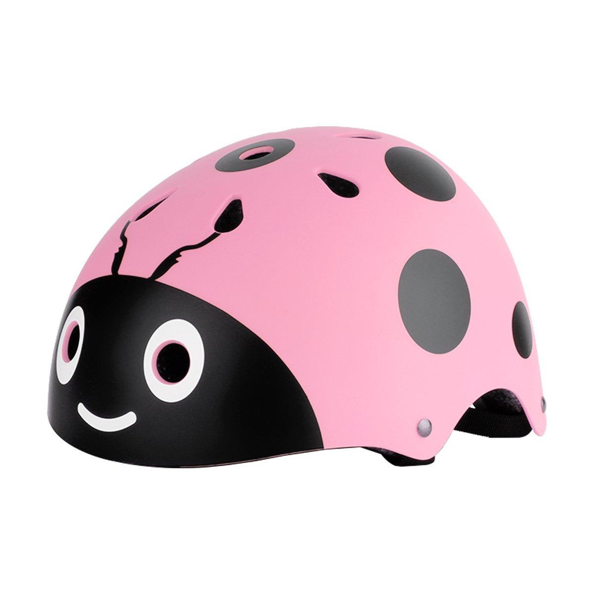 KIDS Bike Helmet,Adjustable Cute Ladybug Helmet for Safety Cycling Skateboarding Skating Skiing Snowboarding Scootering Durable Multi-sport
