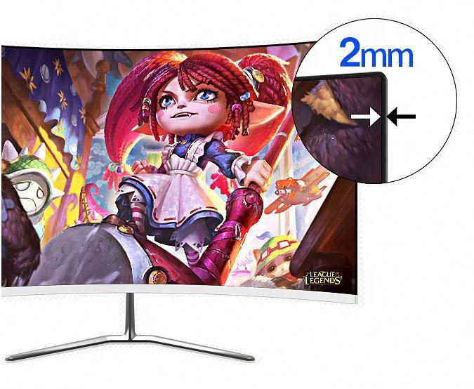 24 pollici senza cornice Sottile Full HD Monitor 1920*1080 75hz affari monitor