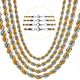 Fashion Multi-layered Cross Link Chain monet rope chain necklace