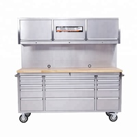 New Garage Shed Storage Workbench Tool Chest Box 6drawers and stainless steel cover tool trolley
