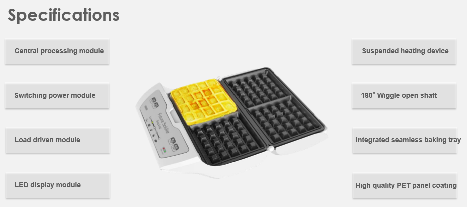New Multi-fuction 110V 220V Waffle Maker Shapes Lolly Waffle Maker