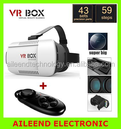 VR Virtual Reality 3D Glasses For 3.5 - 6.0 inch Smartphone+Bluetooth Controller 1.0 2016 Google cardboard VR BOX