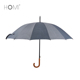 23inch*16k Strong Windproof Mental Frame Walking-stick Umbrella with Wooden Handle