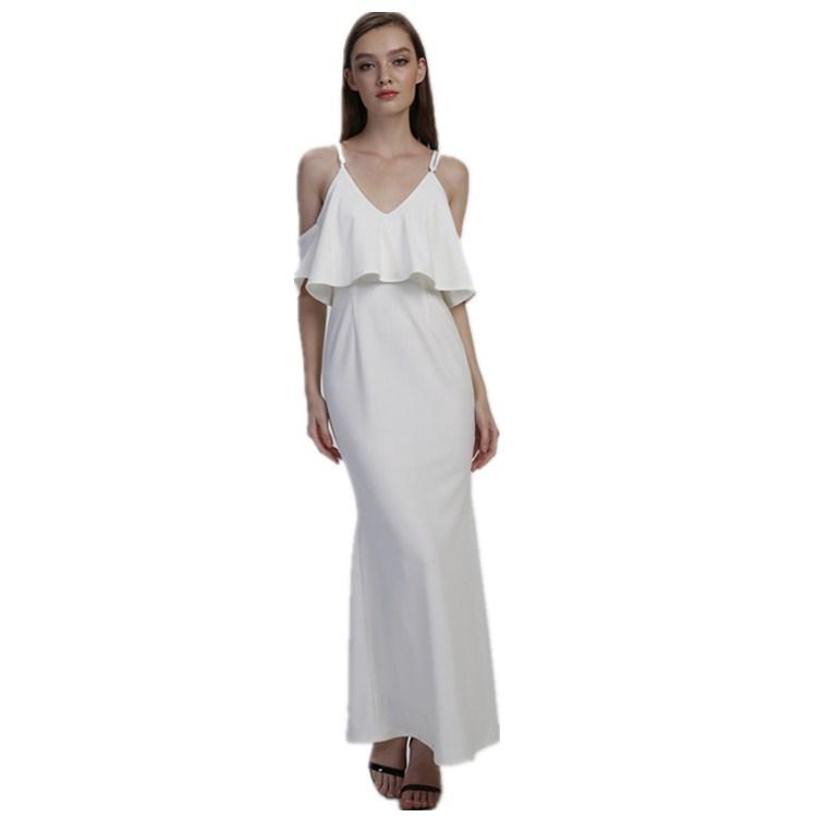 Venta Al Por Mayor Vestidos De Color Blanco Para La