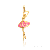 33893 xuping gold plated wholesale personalized dancing rose skirt girl druzy pendant