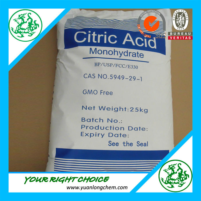 Citric acid anhydrous food grade from manufacturer