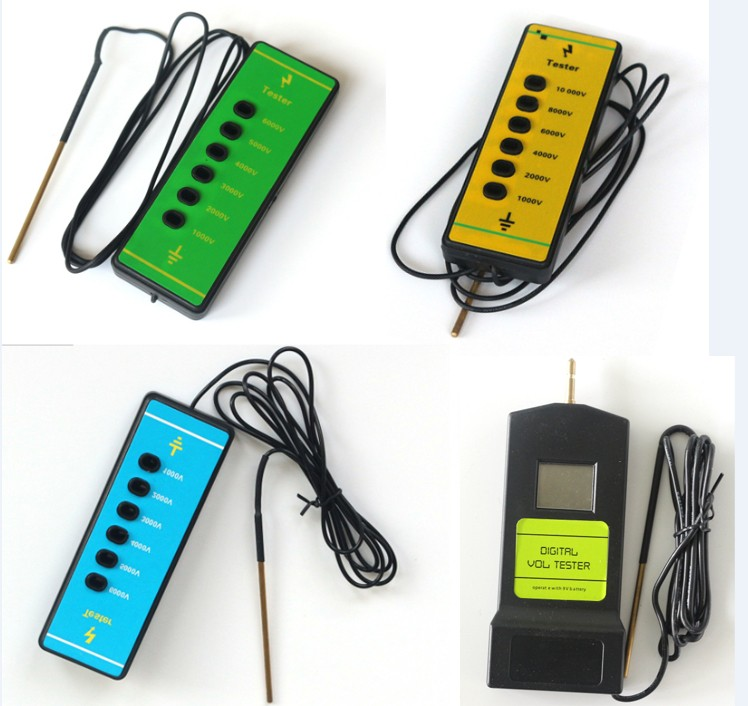 Portable fence tester 6 light indication voltage10KV