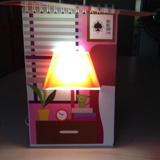 Novelty Page Light/fancy creative japanese paper lamp shades