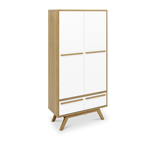 Scandinavian cream white lacquer door large industrial sideboard