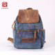 Stylish Unique Mini Tie Dyed Canvas Leather Girls Travel Backpack Rucksack with one Zipper Strap Sling