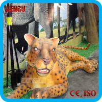 Amusement park mechanical animatronic leopard model