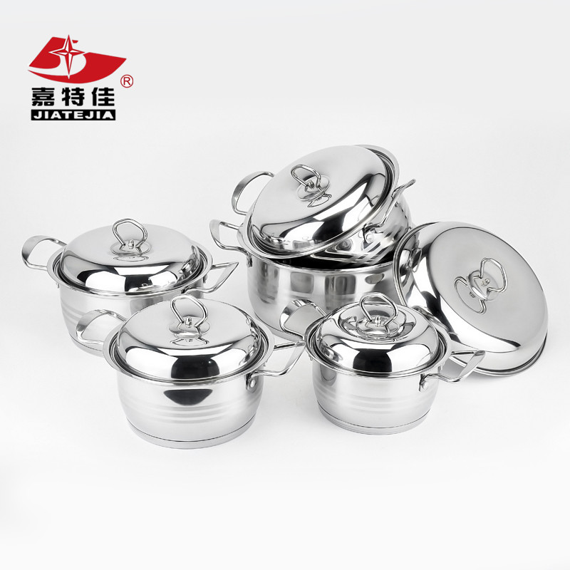 10 pcs kitchen accessories stainless steel cookware set/stock pot set/cooking pot