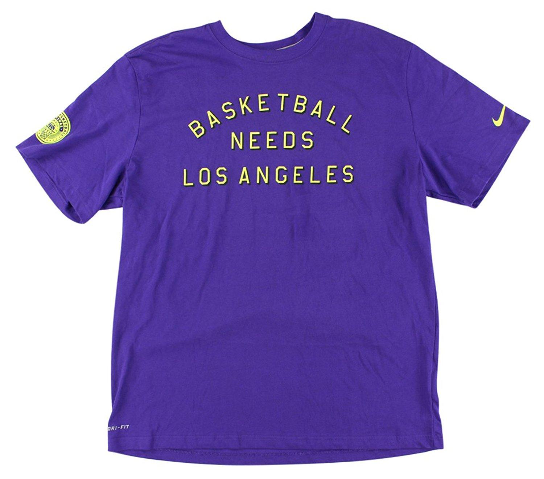 fb3f1ccd6341 Get Quotations · Nike Men s Dri-Fit Basketball Needs Los Angeles T-Shirt-Royal  Purple