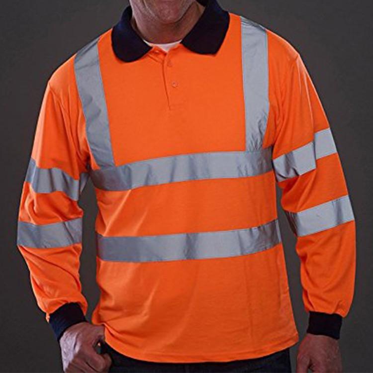 Custom high visibility reflective long sleeve work shirt for Custom hi vis shirts