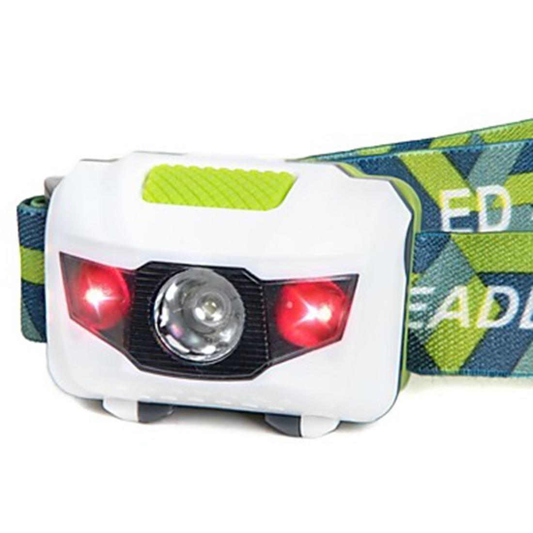 Mini Ultra-light Portable 1 White 2 Red LED Headlamp Headlight Hands-free Flashlight For 3 AAA Batteries Night Fishing/Fixing/Cycling/Reading Light