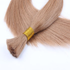 Blonde human hair bundles silky remy texture natural straight style brazilian hair bulk
