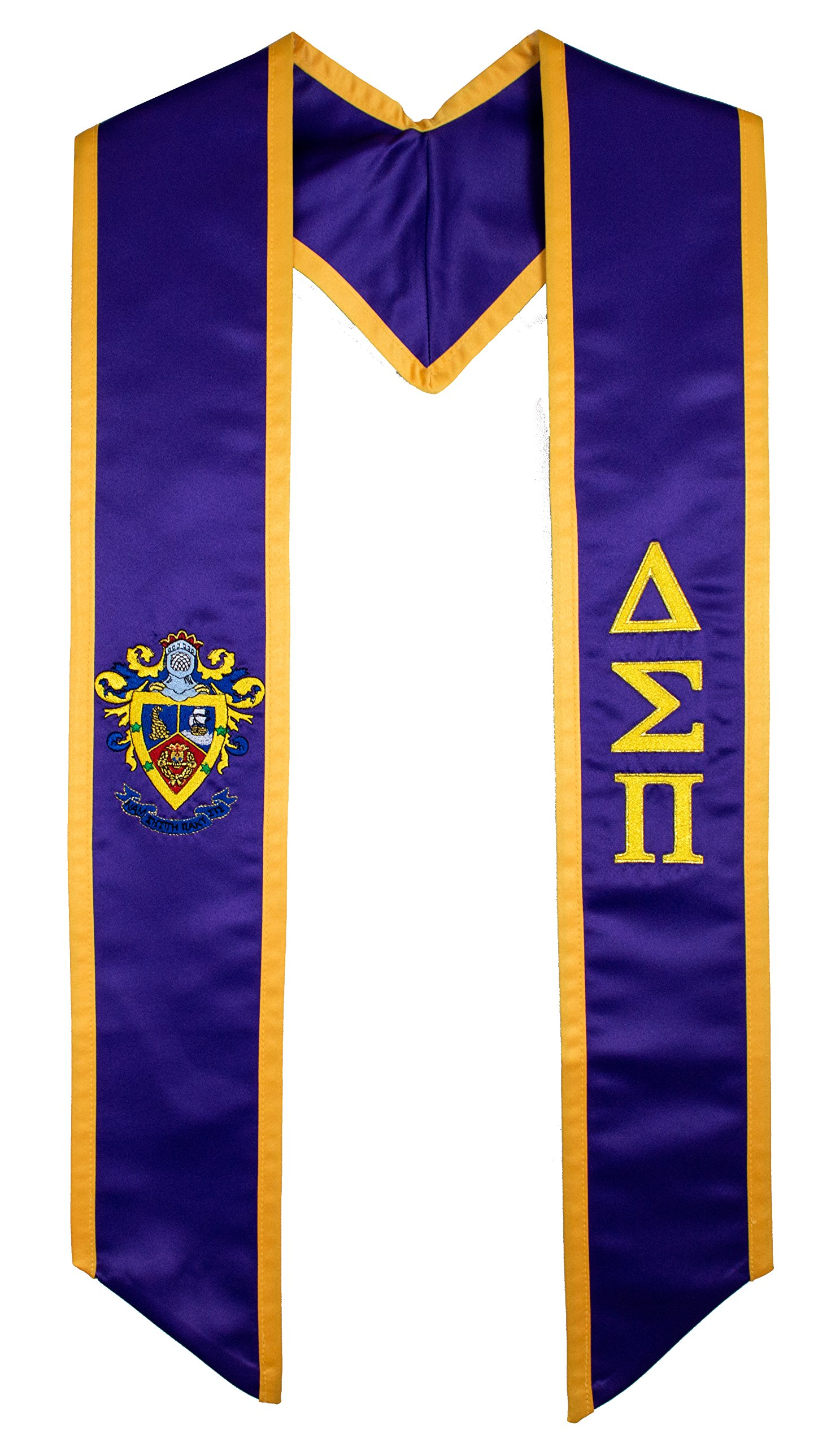 Delta Sigma Pi Fraternity / Sorority Deluxe Embroidered Graduation Stole