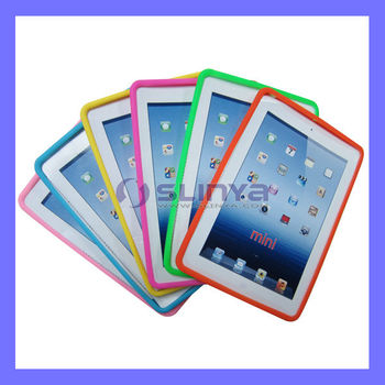 Low Price Tablet 2mm Color Silicone Full Bumper Rubber Case For Ipad