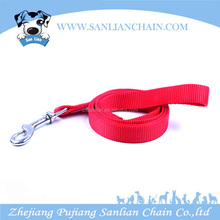High quality adjustable promotional nylon material red dog leash