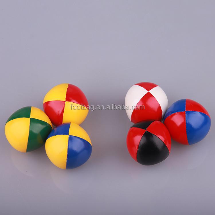 plastic pellet filled FREE SHIPPING Set Of 6 Footbag hacky sack hand made