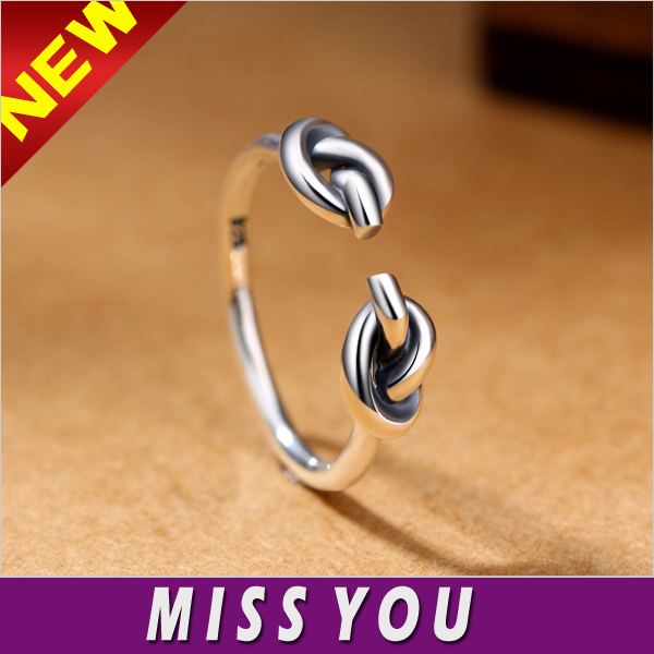 Love knot adjustable Love Tie Open Adjustable ring