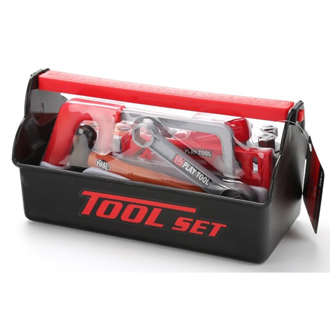 Wholesale plastic tool box hand tool set toy with cheap price and high quality