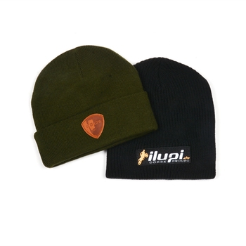 Hot Sale Design Popular Unique Leather Patch /Embroidery Logo Beanie Hat