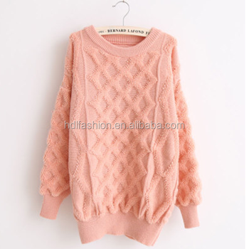 Pullover single wear girls for sweater hand making designs