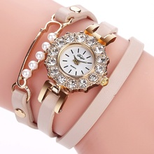 Fashion Bracelet Watches Top Duoya Brand Leather Band Ladies Casual Quartz Wrist Watch Vintage Clock Watch Women