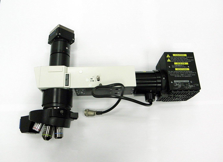 OLYMPUS U-KMA100 Industrial microscope + Accessories and lans + BASLER Camera 100WHAL-L, U-TV0.5XC-2, U-TLU, U-D6REM, U-READB,
