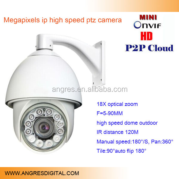 "best price ip speed dome camera,Sony 1/2.8""CMOS,1.3MP 18X optical zoom 120M IR distance"