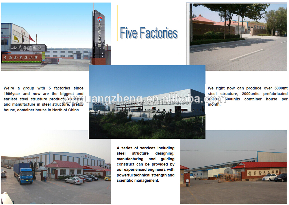 modern large span prefabricated construction light gauge steel framing warehouse