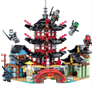 DIY Temple Block Building Educational Toys Set Compatible Legoing Ninjago