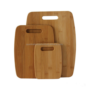Premium 3 Piece Bamboo Cutting Boards by Bamboo Style, Eco-friendly Kitchen Chopping Boards