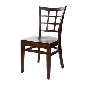 simple stackable solid beech wooden chairs for restaurant