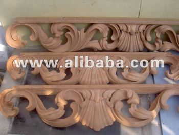 Solid wood carving of ornamental classic design buy hand