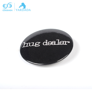 Logo Printing Round Tinplate Metal Badge with Safety pin