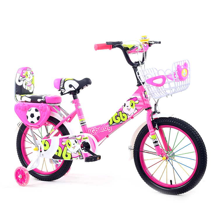 "New 12/"" Kids Pink or Purple Girls Children Bike w Removable Training Wheels"