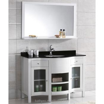 Floor Mounter Solid Wood Marble Vanity Top 42 Inch Solid Vanity
