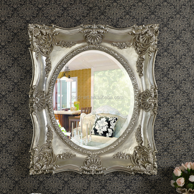 pu285 antique wall decorative framed oval mirror - Decorative Mirror Manufacturers