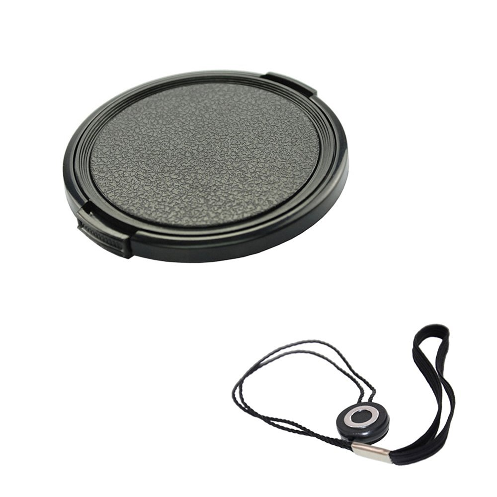 FoRapid 55mm Side-Pinch Snap-On Front Lens Cap/Cover with Lens Cap Holder Keeper for Canon Nikon Sony Olympus Pentax all DSLR Cameras