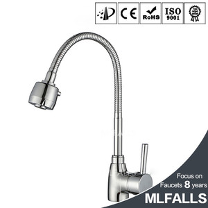 China wholesale market deck mounted centerset sink faucet mixer tap chrome finished brass kitchen sanitary