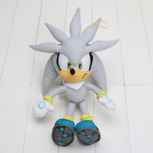32cm new Sonic Plush Toys Gray Sonic The Hedgehog Plush Doll Soft Stuffed Figure Doll Kids Gift